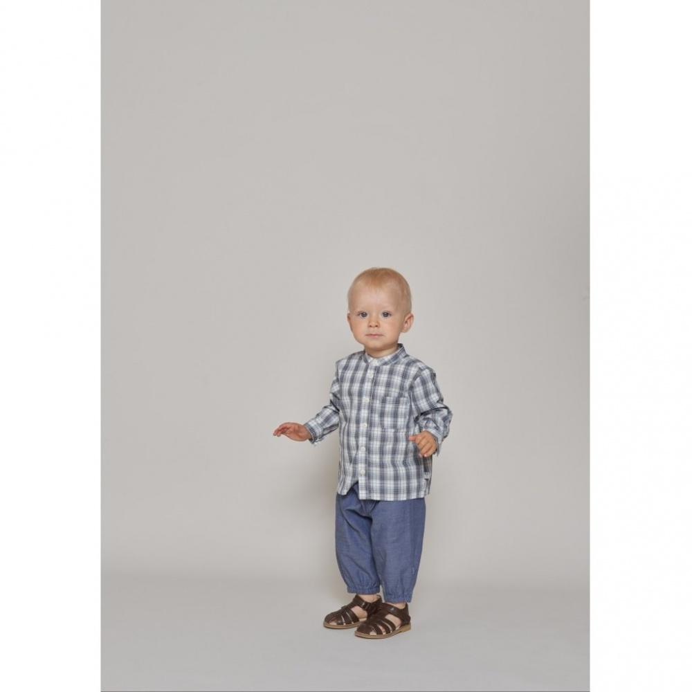 WHEAT SHIRT POCKET BABY <br> BLUE NOELLA
